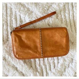 Tommy Bahama Stitched Leather Wristlet Bag/Purse